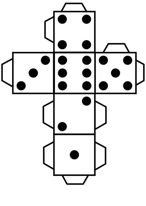 Printable Die Dice By Snifty A Template For Printing Out Dice To Use In Game For Kids Make Your Own Dice Template