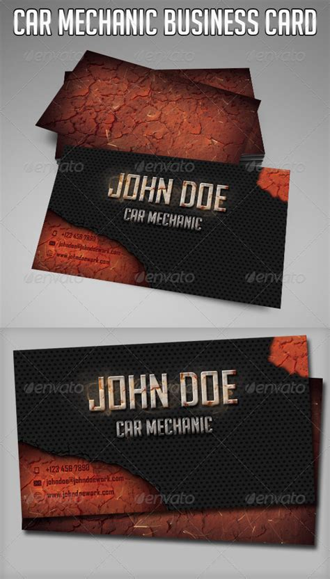 mechanic card template car mechanic business card graphicriver