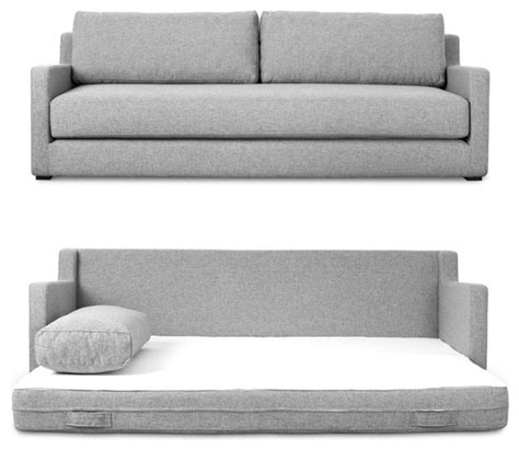 Gus Modern Sleeper Sofa Flip Sofa Bed By Gus Modern Parliament Stone