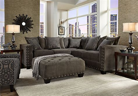 cindy crawford home sidney road gray 2 pc sectional