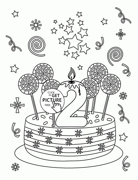 second birthday coloring pages free happy birthdaycoloring pages coloring home