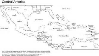 blank map of central america and the caribbean