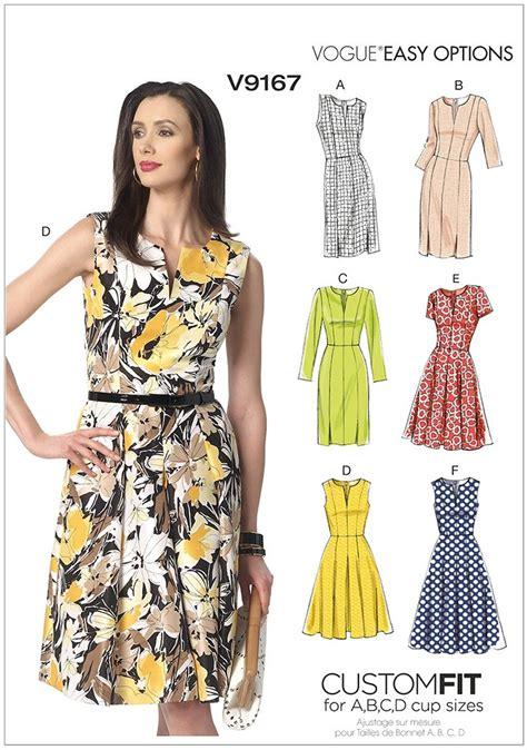 dress pattern notches misses notch neck princess seam dresses vogue sewing