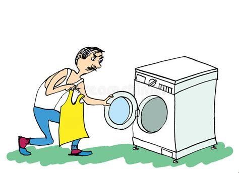 clipart uomo uomo e lavatrice fare l uomo della lavanderia