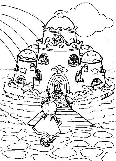rainbow castle coloring page 22 best rainbow brite coloring pages images on pinterest