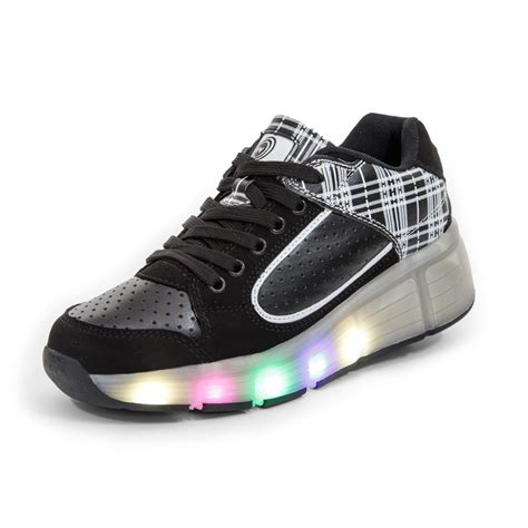 wheel shoes for children shoes fashion heelys sport casual with led l