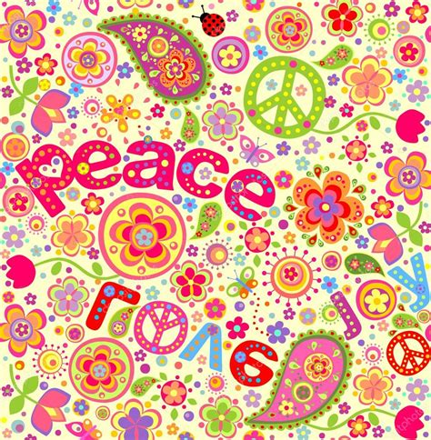 imagenes hippies vector fondo de pantalla de hippie vector de stock