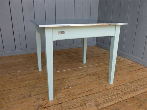 bespoke natural zinc top kitchen or dining square table