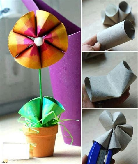 Toilet Paper Roll Flowers Craft - toilet paper roll flower craft ones