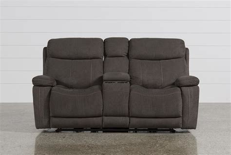 Reclining Loveseat W Console by Colt Power Reclining Loveseat W Console Living Spaces
