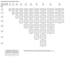 Wood windows wood window size chart
