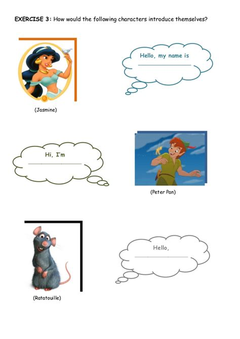 What S Your What whats your name worksheet
