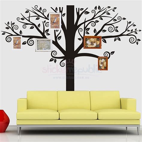 stick photos to wall without damage large black tree wall decal