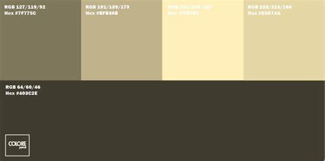 gamma colori pareti interne tabella di 5 colori per pareti abbinati tra di loro
