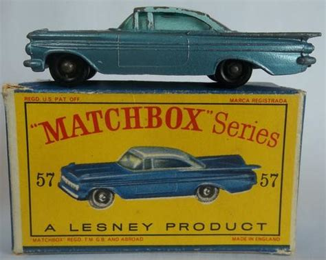matchbox chevy impala models matchbox lesney 1 75 series regular wheels 57