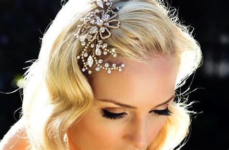 Wedding Hair Accessories Gold by Blooming Swirls Wedding Hair Accessory Gold And