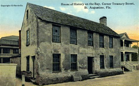 on the house origin house of history on the bay at the corner of treasury street in st augustine