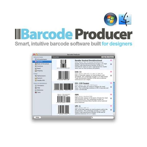 Software Barcode For Mac barcode producer 6 windows mac