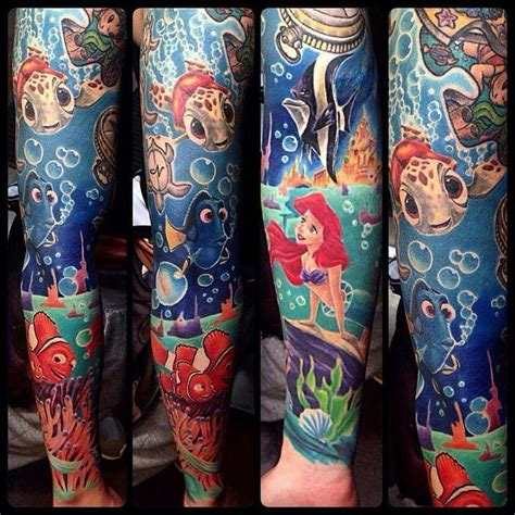 disney tattoo sleeve disney sleeve designs ideas and meaning tattoos