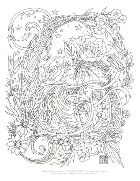 coloring book for adults amazing swirls items similar to printable coloring page starry swirls
