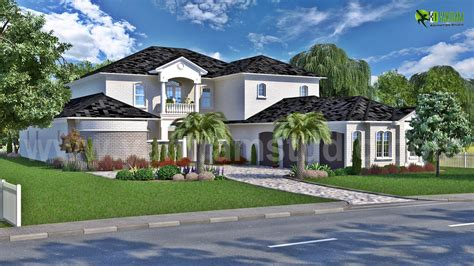 modern bungalow 3d exterior design by yantramstudio 3d