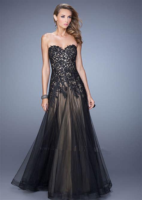 Robe De Bal Noir Longue - robe de soiree elegante et longue