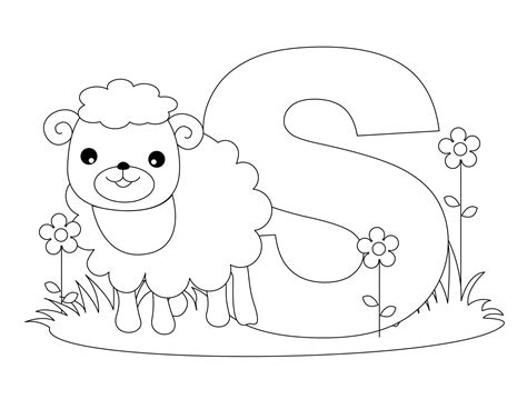 letter s coloring pages free printable alphabet coloring pages for best