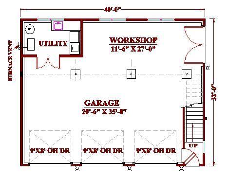 garage shop plans 3 bay garage workshop plan garage pinterest