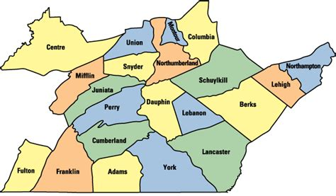 map of central pa map of counties in south central pennsylvania pictures to