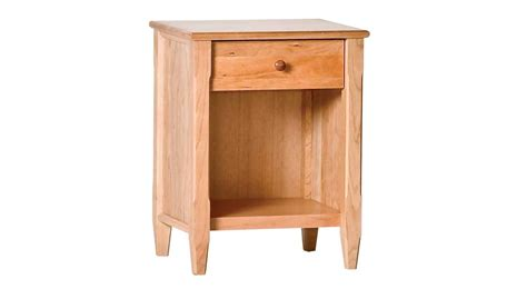 Curved Nightstand by Circle Furniture Shaker Nightstand Cherry Nightstands