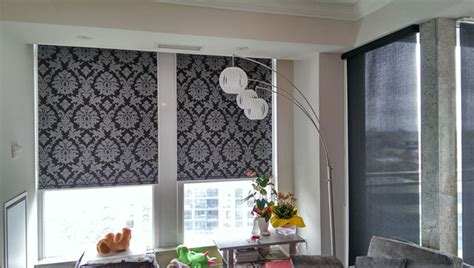 pattern roller window shades patterned roller shades contemporary living room