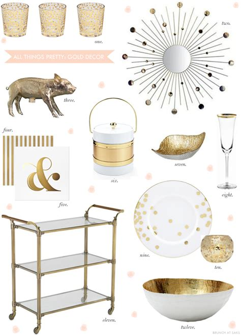 gold home decor accents b a s