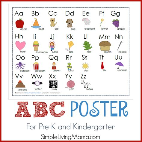 Abc Abc abc poster simple living