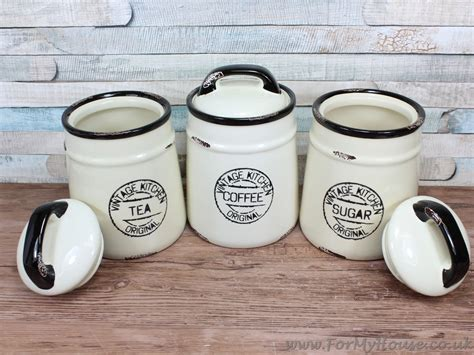 vintage ceramic kitchen canisters vintage kitchen ceramic tea coffee sugar canisters