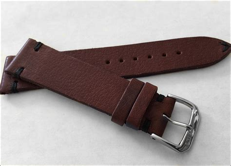 Noir Leather Handstrap Brown New Item 22mm Rios1931 Brown Vintage Leather
