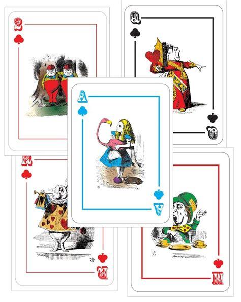 alice  wonderland giant large   playing cards mad