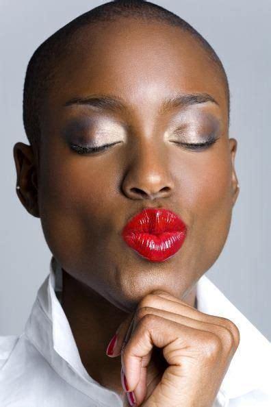 dark red lipstick for black women 73 best images about beautiful bald women on pinterest