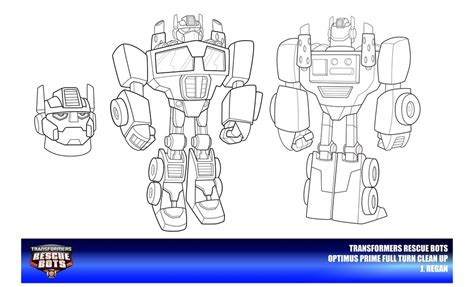 coloring pages rescue bots rescue bots optimus prime clean up by thegreatjery on