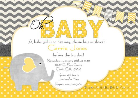 invitations to baby shower baby shower invitation beenesprout