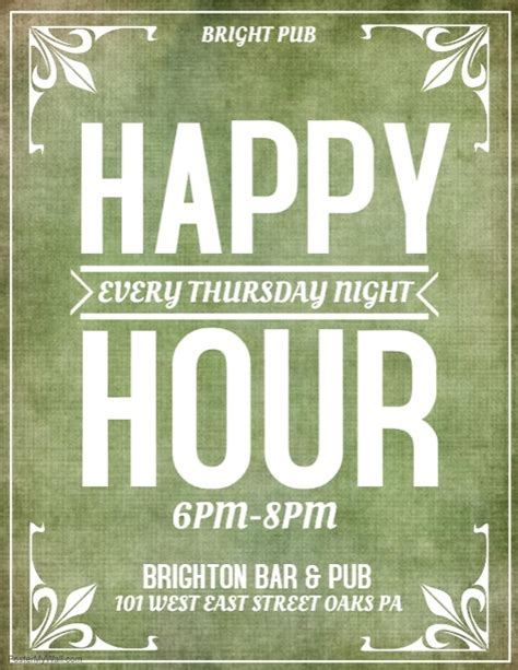happy hour template happy hour template postermywall