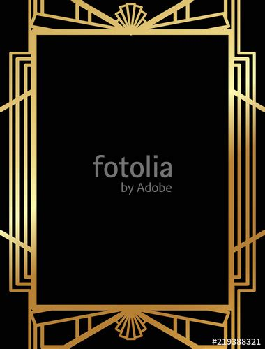 Quot Art Deco Gatsby Inspired Roaring 20s Style Frame Template Vector Quot Stock Image And Royalty Free Gatsby Powerpoint Template