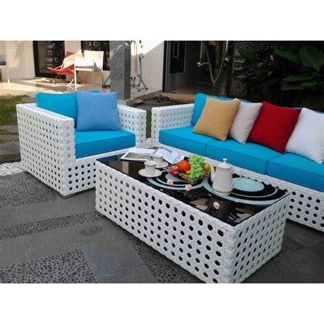 caroline set kursi sofa rotan sintetis minimalis 3 seater premium rattan synthetic furniture