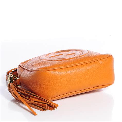 Gucci Ns Leather Orange gucci leather small soho disco bag orange 78500