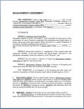 business management contract template sle management agreement