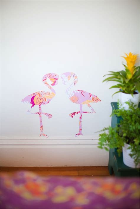 flamingo removable wallpaper diy giant animal wall stickers with free printables