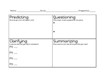 Reciprocal Teaching Worksheet by Reciprocal Worksheet Resultinfos