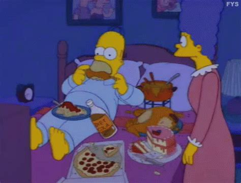 homer in bed snack fever gif simpsons homer bed gifs say more with