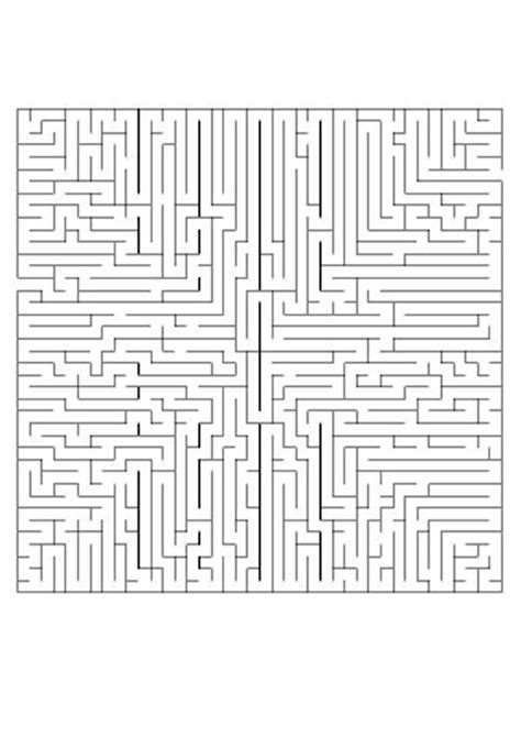 printable labyrinth maze difficult printable mazes find the road difficult