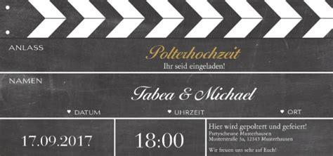 Einladung Polterhochzeit by Hochzeitslexikon Lexikon Polterhochzeit