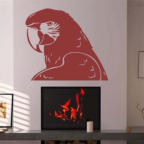 bird wall stickers parrot bird animal wall decals wall stickers transfers
